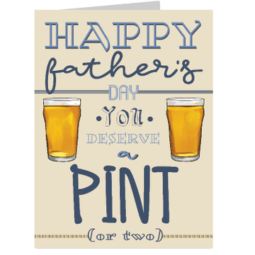 Personalised Deserve a Pint Card