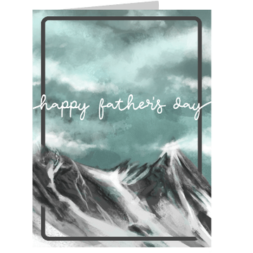 Personalised Father's Day Mountain Card