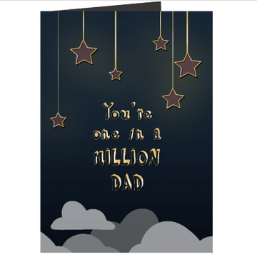 Personalised One in a Million Dad Card
