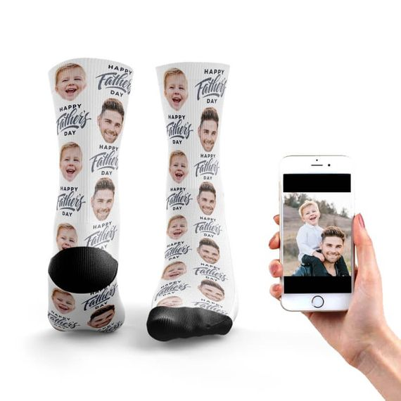 Personalised Father's Day Face Socks