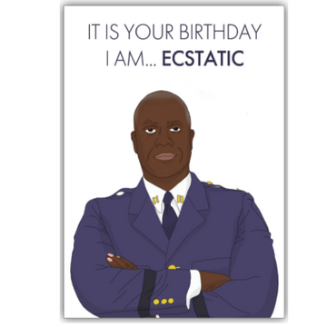 Personalised Ecstatic Birthday Card