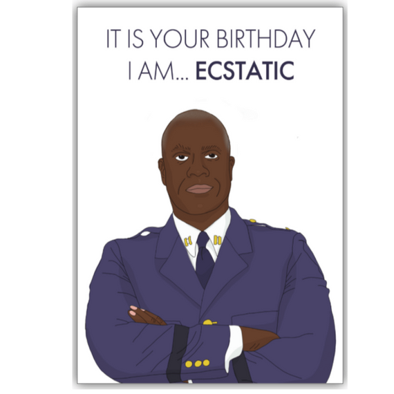 Personalised Ecstatic Birthday Card