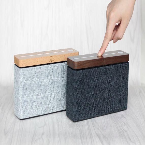 HiFi Square Bluetooth Speaker - Walnut