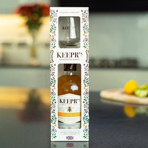 Personalised Keepr's Honey Gin Tasting Gift Box