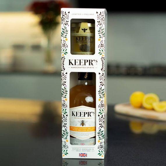 Personalised Keepr's Honey Lovers Gin Gift Pack