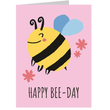 Personalised Happy Bee-Day Card