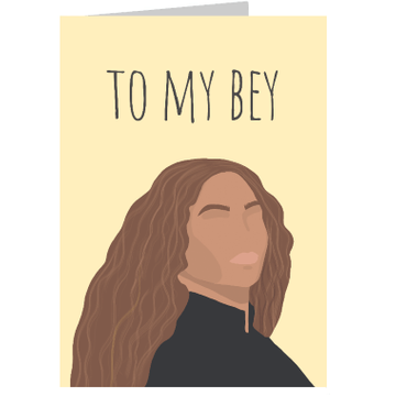 Personalised To My Bey Card
