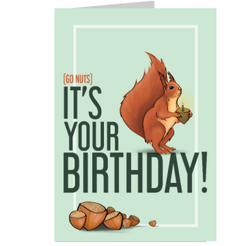 Personalised Go Nuts Birthday Card