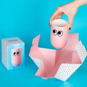 Googly Eye Double Wall Mug - Pink