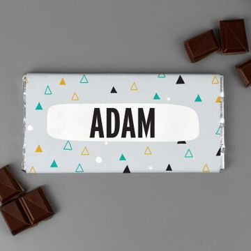 Personalised For Him Big Name Chocolate Bar