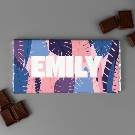 Personalised For Her Big Name Chocolate Bar