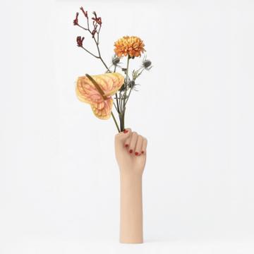 Girl Power Vase - Big Brown