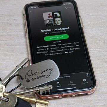 Personalised Any Song Spotify Keyring
