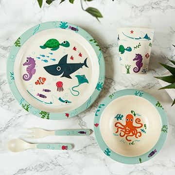 Bamboo Splosh Sealife Reusable Dinner Set