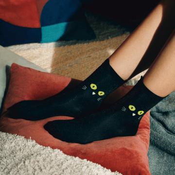Cat Socks - Black