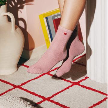 Glitter Heart Socks - Pink