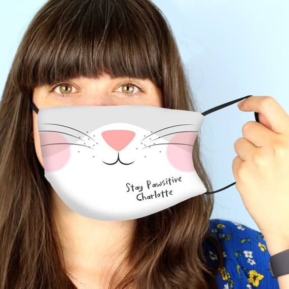 Personalised Cat Face Mask