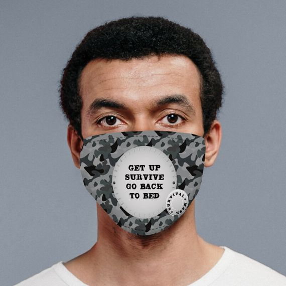 Personalised Camo Survival Face Mask