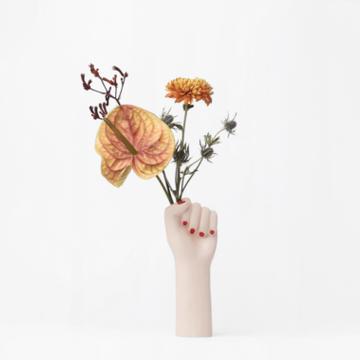 Girl Power Vase - Small White