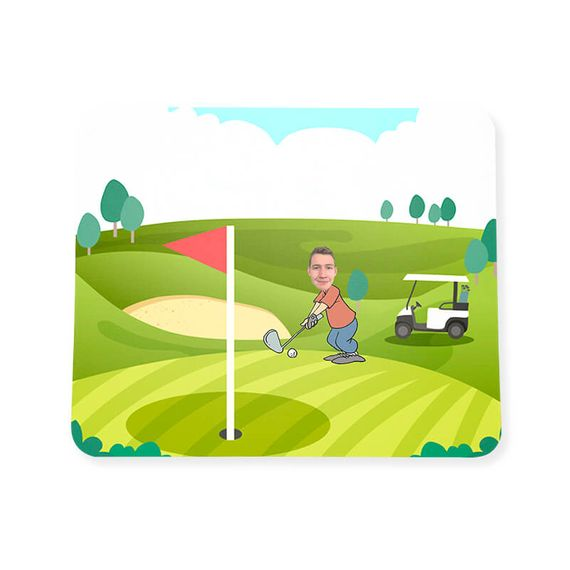 Personalised Golf Face Mouse Mat