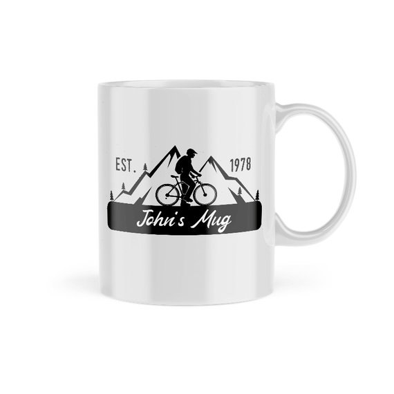 Personalised Cyclist Name Mug