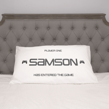 Personalised Player One Pillow Case