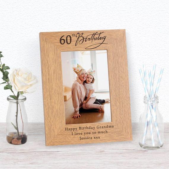 Personalised 60th Birthday Photo Frame