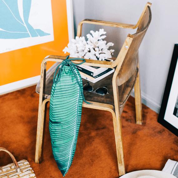 Tropical Travel Laundry Bag - Green