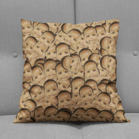 Personalised Multi Face Cushion