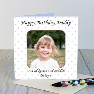 Personalised Any Message Photo Coaster Card