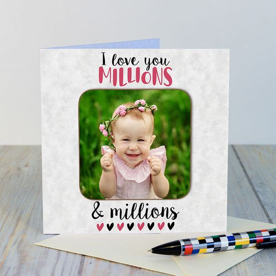 Personalised Love you Millons Photo Coaster Card