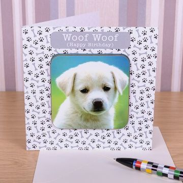 Personalised Dog Photo Coaster Card