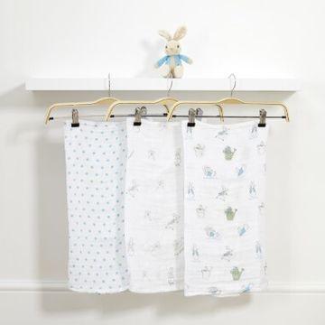 Peter Rabbit Soft Toy & Muslin Gift Set