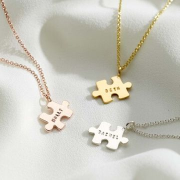 Personalised Mini Jigsaw Piece Necklace
