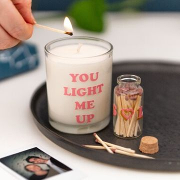 Personalised Initial Candle & Match Set