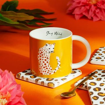 Leopard Print Coasters - Set of 4