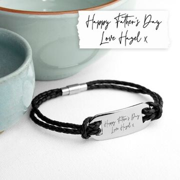 Personalised Handwriting Men's Bracelet