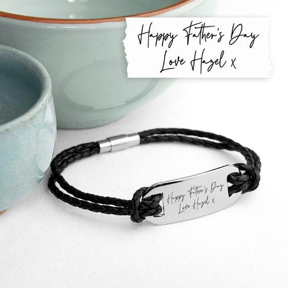 Personalised Handwriting Men's Bracelet