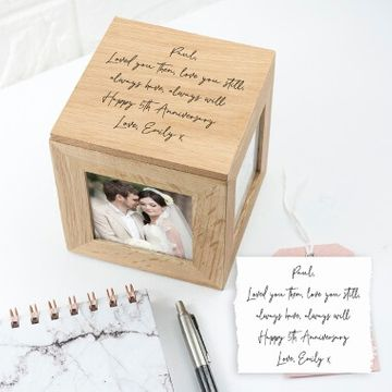 Personalised Handwriting Photo Cube