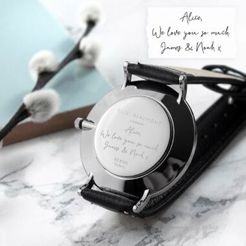 Personalised Handwriting Ladies Leather Watch