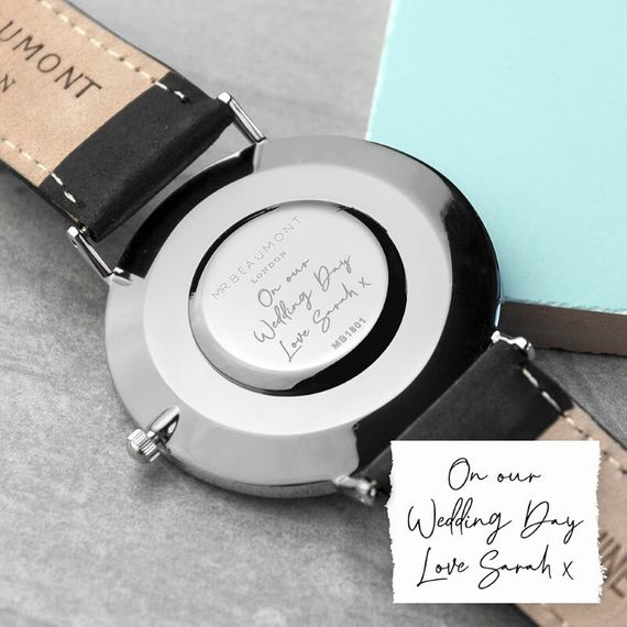 Personalised Handwriting Men's Leather Watch