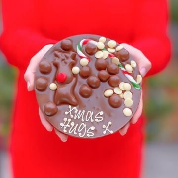 Personalised Christmas Chocolate Letterbox Slab
