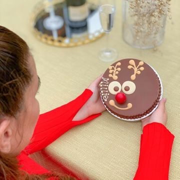 Personalised Reindeer Mini Chocolate Smash Cake