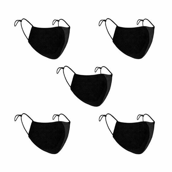 Comfort Fit Face Masks - Pack of 5