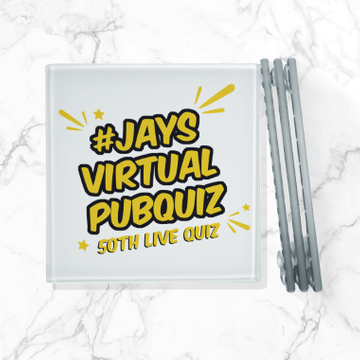 Jay's Virtual Pub Quiz Glass Coaster