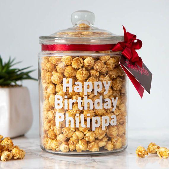 Personalised Popcorn Biscotti Jar
