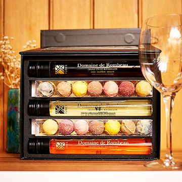 Wine In Tubes And Chocolate Truffle Gift Set - Large