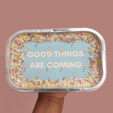Personalised Sprinkle Message Tray Bake
