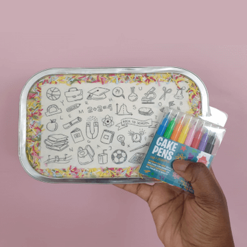 Back to School Doodle Letterbox Tray Bake