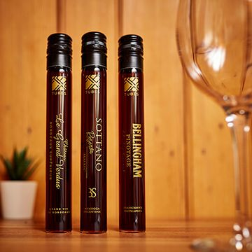Red Wine In Tubes - Set Of Three World Wines